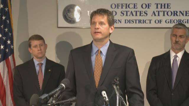 U S  Attorney addresses media about prison guard arrests