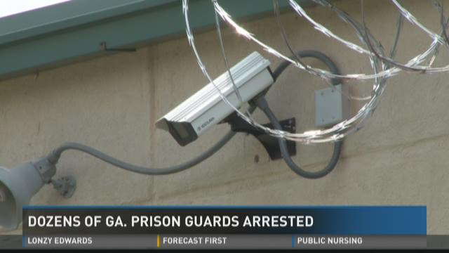 Dozens of Ga  prison guards arrested
