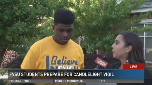 FVSU students prepare for candlelight vigil