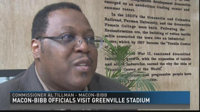 Macon-Bibb officials visit Greenville stadium