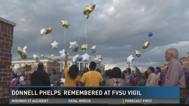 Donnell Phelps remembered at FVSU vigil