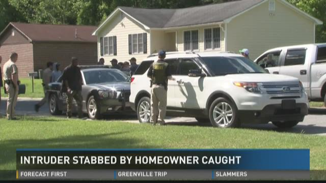 Intruder stabbed by homeowner caught