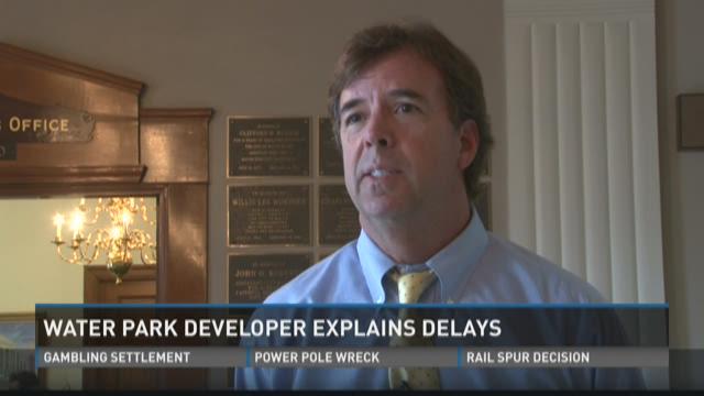 Developer explains water park delays