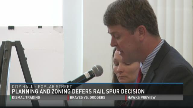 Planning and zoning defers rail spur decision