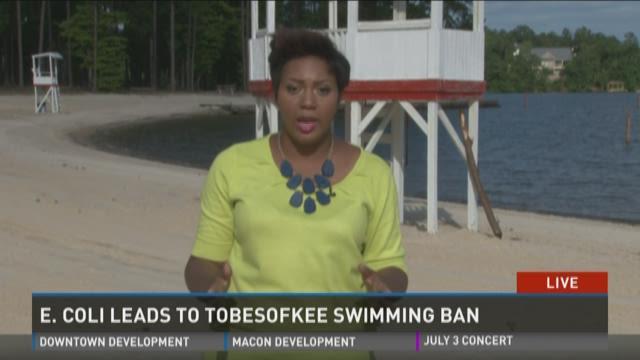 Beaches closed at Lake Tobesofkee due to E. coli