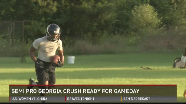 Semi-pro Georgia Crush ready for gameday