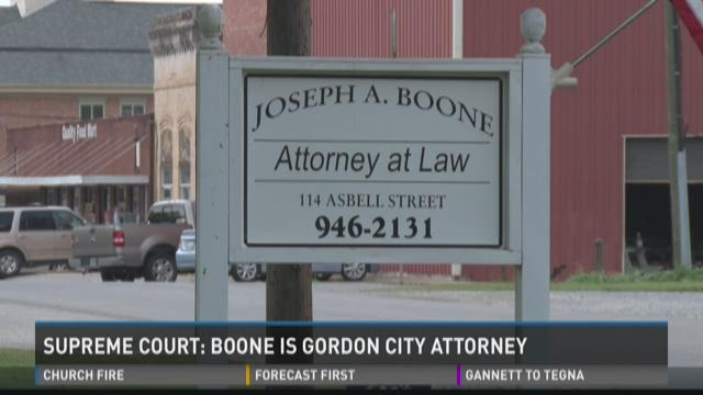 Supreme Court: Boone is Gordon city attorney