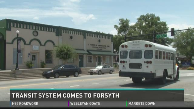 Transit system comes to Forsyth