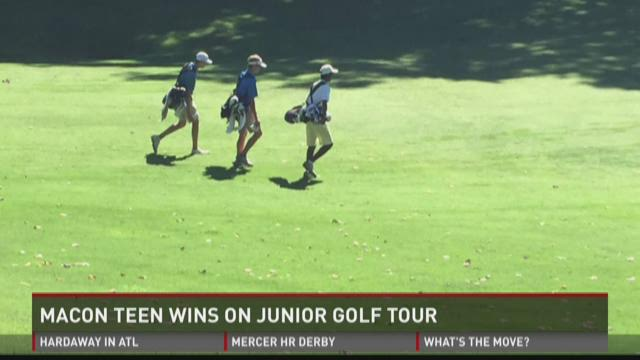 WATCH: Macon teen wins on junior golf tour