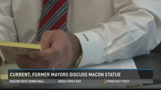 Current, former mayors discuss Macon statue