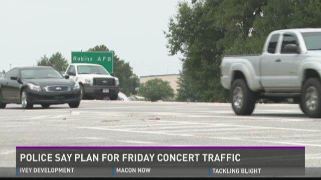 Police say plan for Friday concert traffic