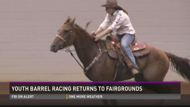 Youth barrel racing returns to fairgrounds