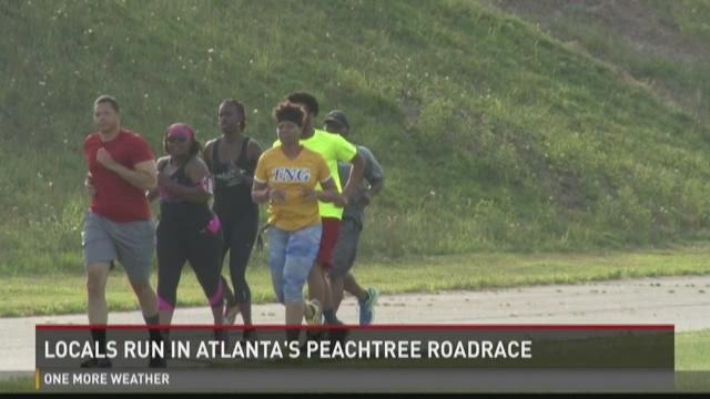Locals run in Atlanta's Peachtree Road Race