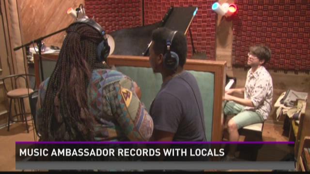 Music ambassador records with locals