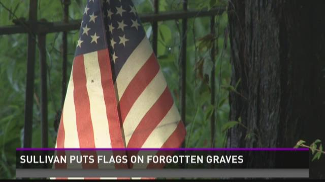 Sullivan puts flags on forgotten graves