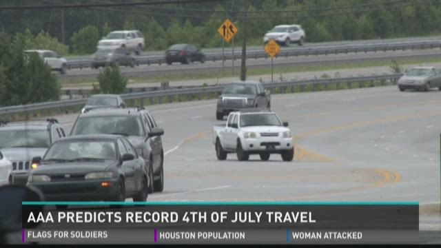 AAA predicts record 4th of July travel