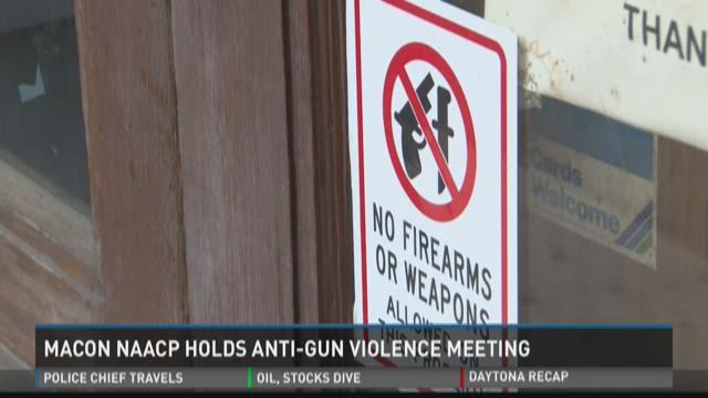 Macon NAACP holds anti-gun violence meeting