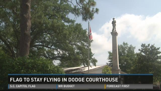 Flag to stay flying at Dodge courthouse