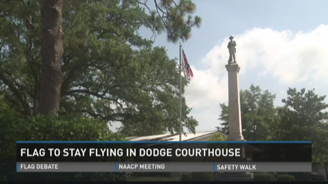 Dodge Commissioners vote to keep Confederate Flag
