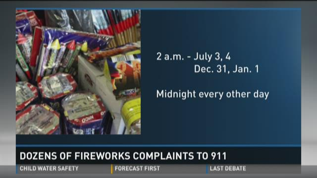 Police limited in controlling fireworks noise