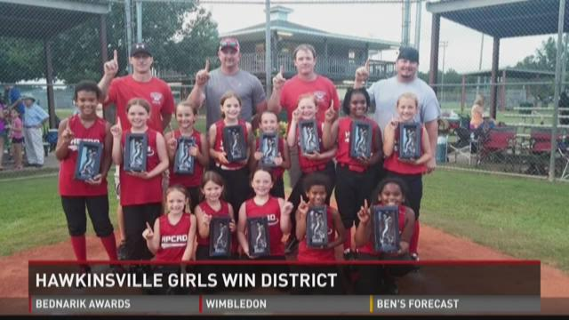 Hawkinsville girls win district