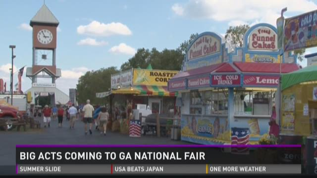 Big acts coming to Ga. National Fair