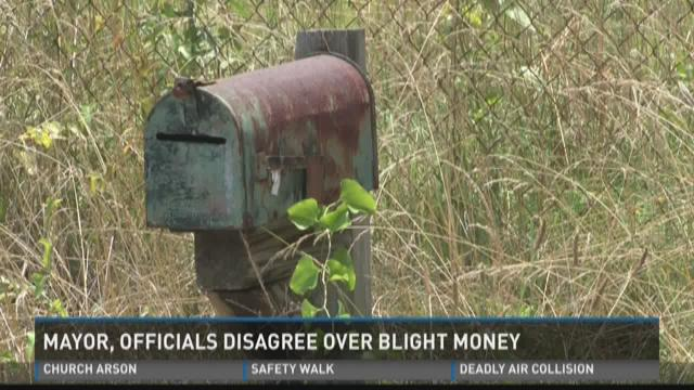 Mayor, officials disagree over blight money