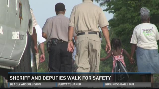 Sheriff and deputies 'Walk for Safety'