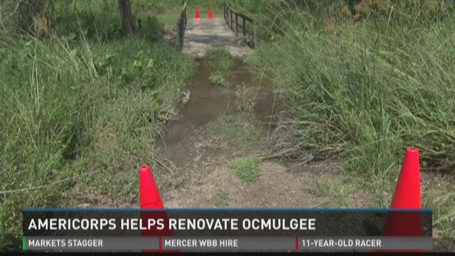 Americorps helps renovate Ocmulgee