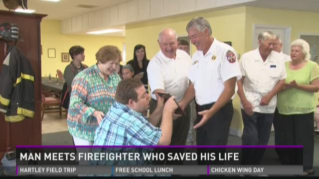 Man meets firefighter who saved his life