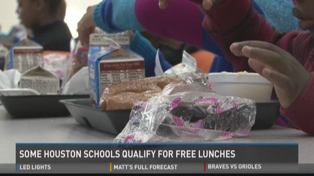 Some Houston schools qualify for free lunches