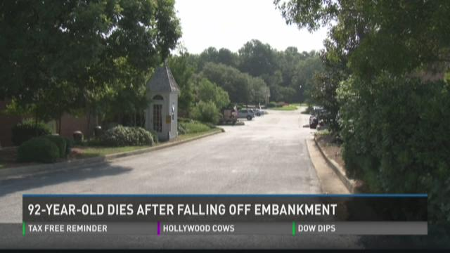 92-year-old woman dies after falling off embankment