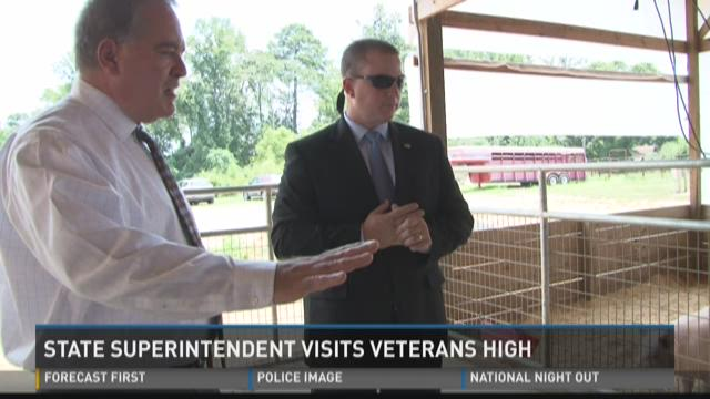 State superintendent visits Veterans High