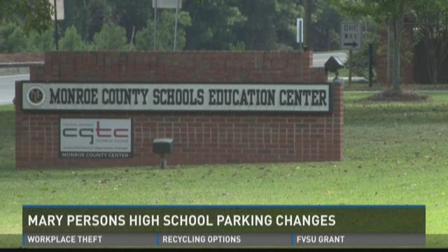 Mary Persons High School parking changes