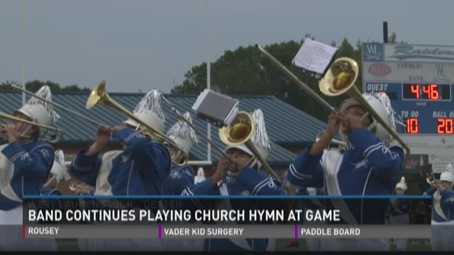 Group asked band to stop playing religious hymn at football game, they