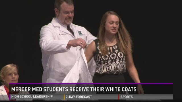 Mercer med students receive their white coats