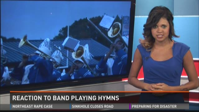 Reaction to Band Playing Hymns
