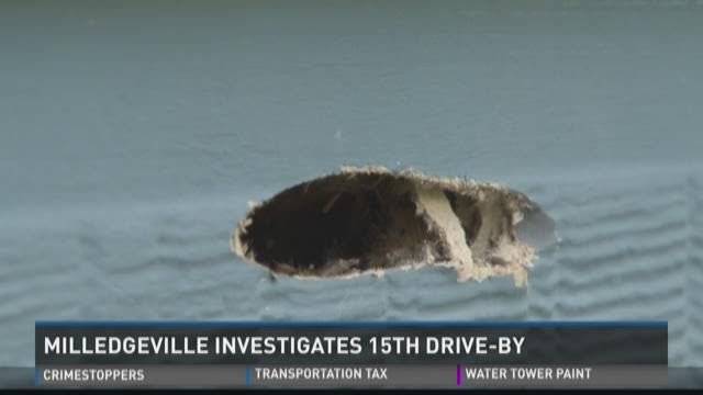 Milledgeville Police investigate 15th drive-by shooting
