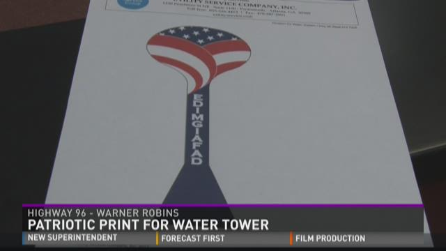 Houston to paint patriotic water tower