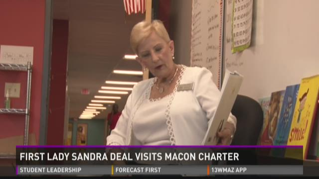 First Lady Deal reads to students
