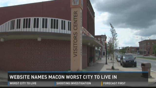 Macon named by website 'worst city to live'