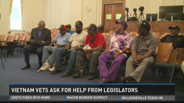 Vietnam vets ask for help from legislators