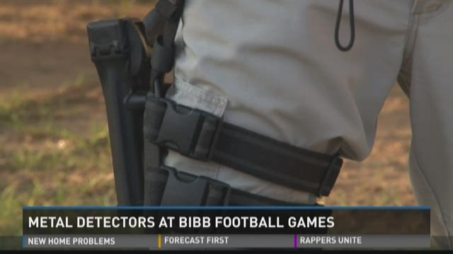 Metal detectors at Bibb football games