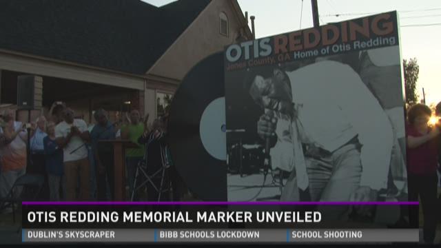 Otis Redding memorial marker unveiled