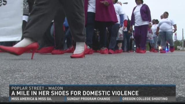 Walking a mile in a domestic violence victim's shoes
