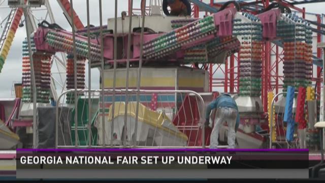 Georgia National Fair setup underway