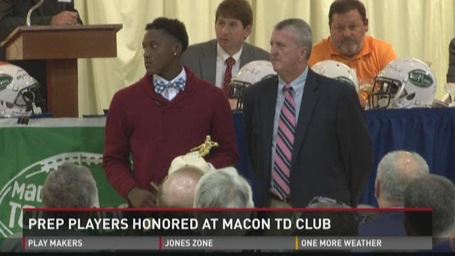 WATCH: Macon TD Club honors prep players