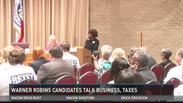 Warner Robins candidates talk business, taxes