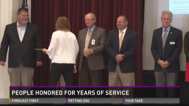 Educators honored for years of service