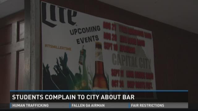 Students complain to city about Milledgeville bar